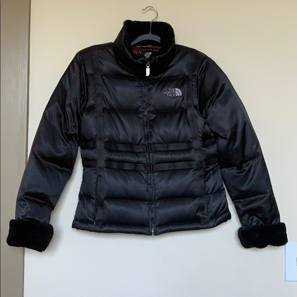 The North Face Jackets & Blazers - sz S North Face black down puffer jacket+faux fur